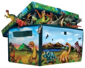 ZipBin Dinosaur Collector Toy Box